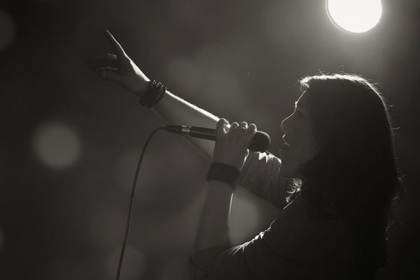 Sängerin Lina Scholz in Concert